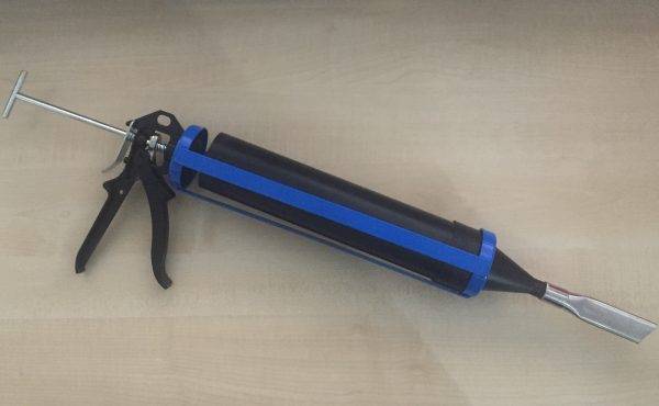 grout gun for crack stitching