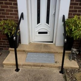 handrails for steps by door