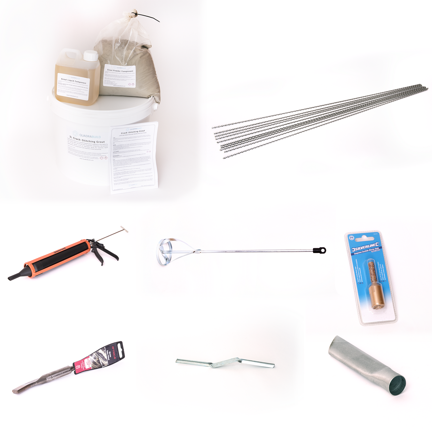 crack stitching kit with tools