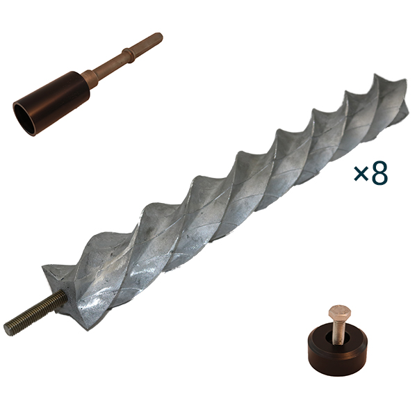 64mm QuadraPIle helical pile kit