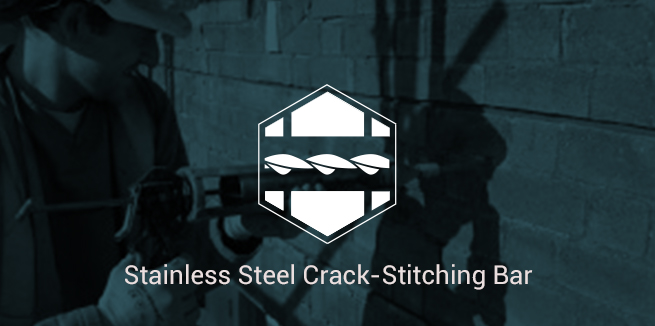Stainless Steel Helical Crack-Stitch Bar
