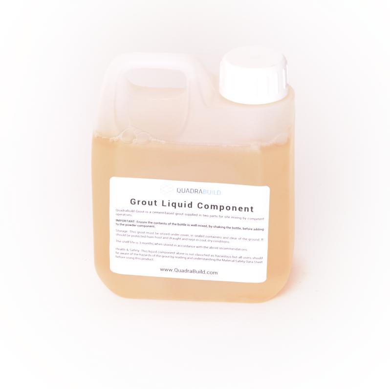 crack stitching grout liquid component