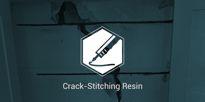 Crack-Stitching Resin