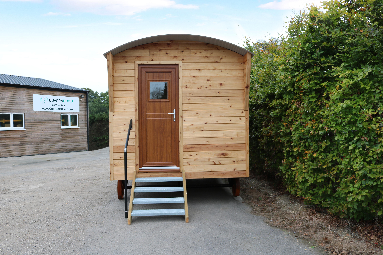 Medium Shepherd Hut With Cedar Cladding Quadrabuild