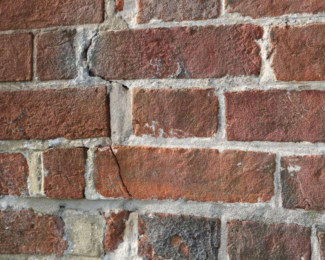 cracked brickwork to be repaired
