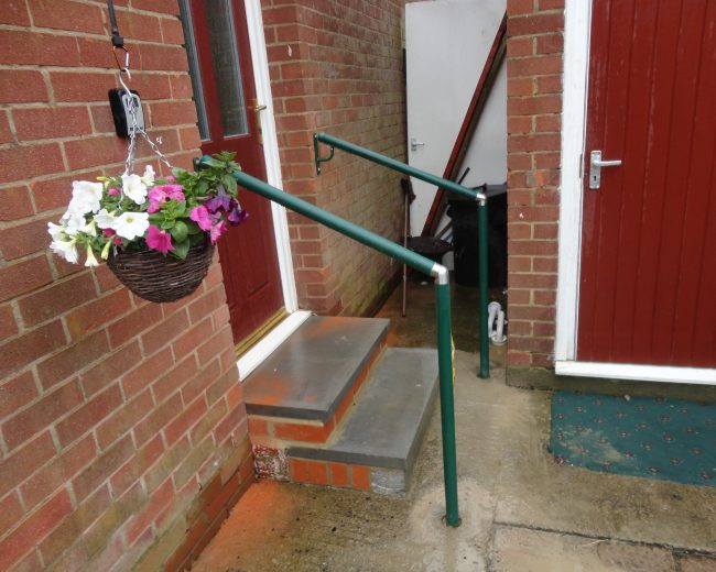 handrails for steps to door
