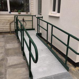 disabled access modular ramp