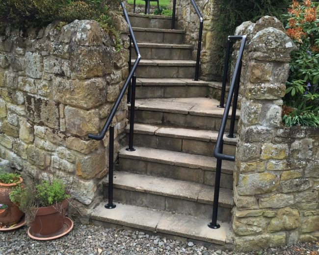 handrail for stepped access