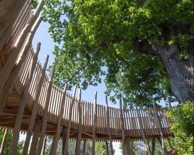 QuadraPile foundations for Kew Gardens Children's Garden structure