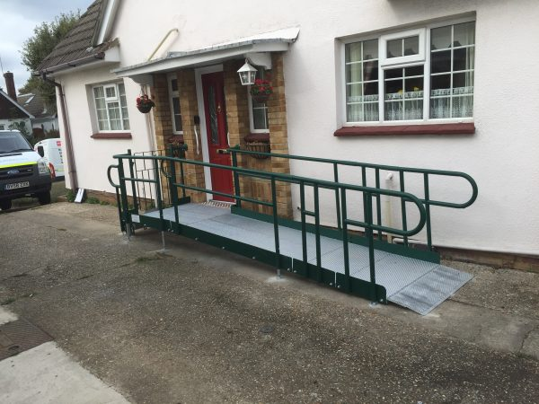 access ramp with steps