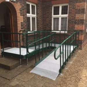 disabled access ramp with return